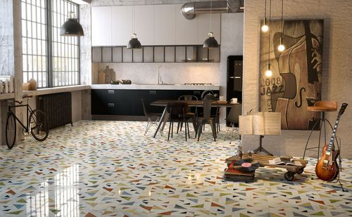 Indoor tile / floor / marble / geometric pattern ALLEGRO by Raffaello Galiotto Lithos Design