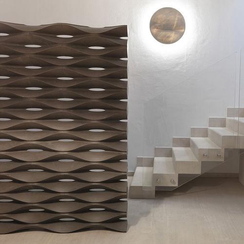 Original design screen / marble / natural stone / for open plan areas ONDA by Raffaello Galiotto Lithos Design