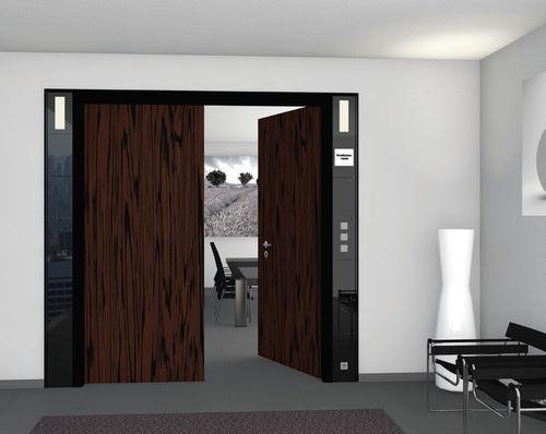 Interior door / swing / wooden / automatic DESIGN BEST OF STEEL
