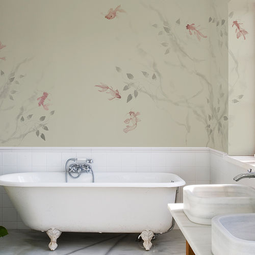 Traditional wallpaper / cotton / animal motif / hand-painted AQUARIA BuenaVentura