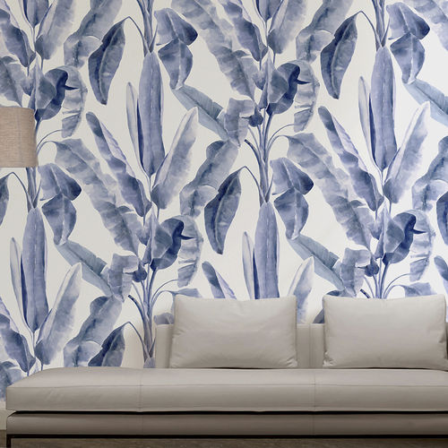 Traditional wallpaper / cotton / nature pattern / hand-painted BANANITO BuenaVentura