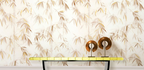 Traditional wallpaper / cotton / nature pattern / hand-painted BAMBOO FOREST II BuenaVentura