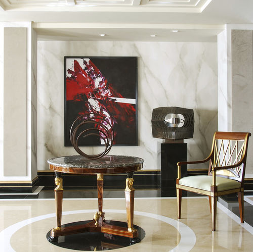 traditional wallpaper / cotton / patterned / marble look