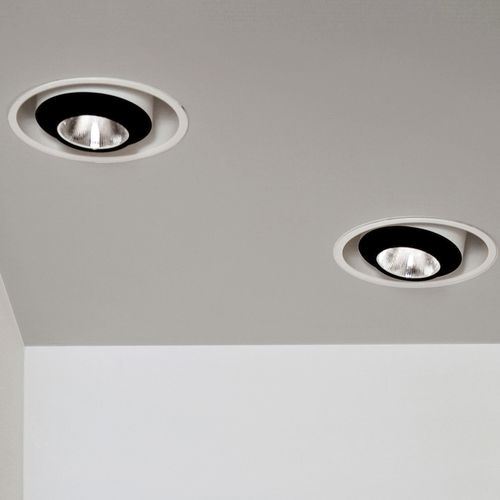 recessed ceiling downlight / LED / elliptical / commercial