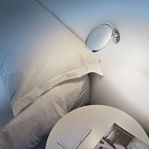 contemporary wall light / metal / LED / round