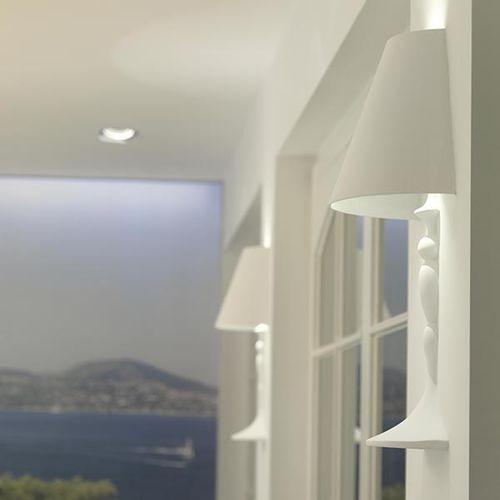 original design wall light / glass / LED / halogen