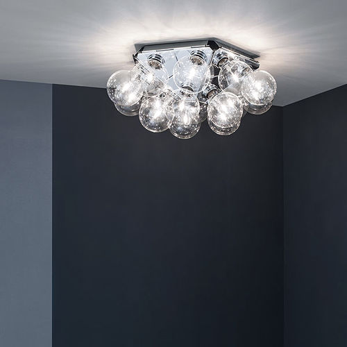 contemporary ceiling light / steel / polished aluminum / LED