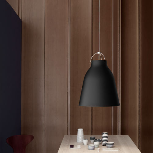 pendant lamp / contemporary / metal / black