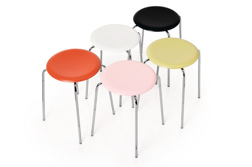 Scandinavian design stool / beech / walnut / ash DOT™  Fritz Hansen
