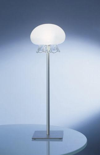 desk lamp / contemporary / steel / borosilicate glass