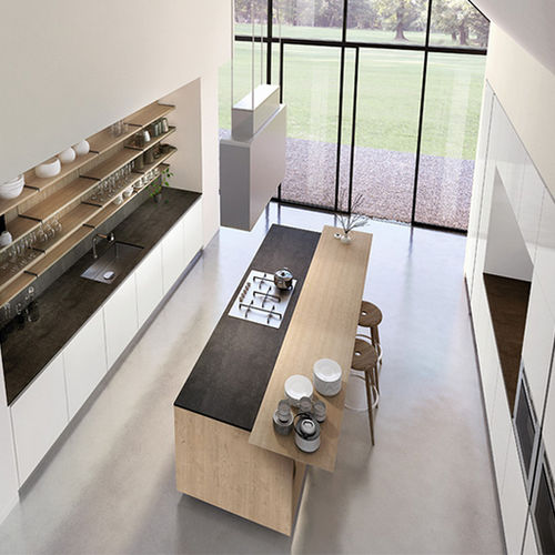 contemporary kitchen / slate / stainless steel / steel