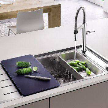 Single-bowl kitchen sink / stainless steel / with drainboard ANDANO BLANCO GmbH + Co KG