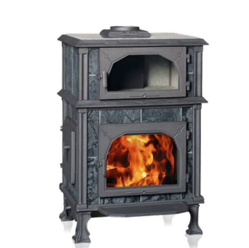 Wood heating stove / traditional / stone / with oven VISION GOURMET Altech