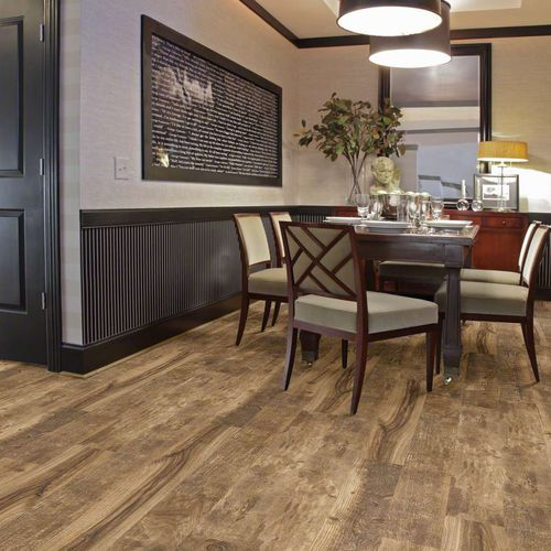 wooden laminate flooring / floating / wood look / home