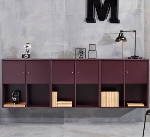 wall-mounted sideboard / contemporary / lacquered wood