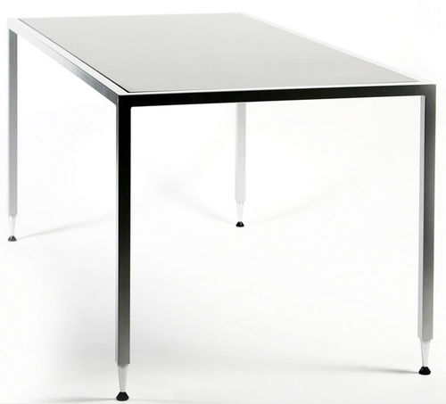 contemporary work table / wooden / rectangular / square