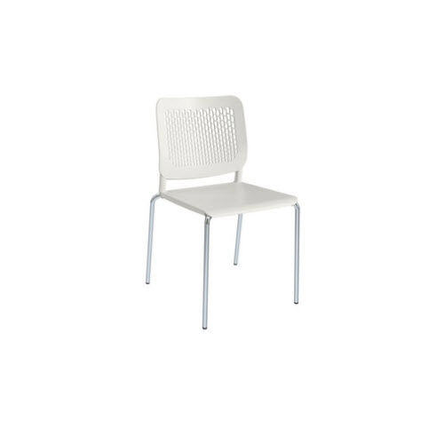 contemporary visitor chair / with armrests / sled base / tablet