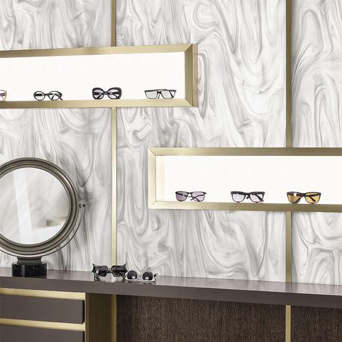 Corian® composite panel / for interior / white / translucent