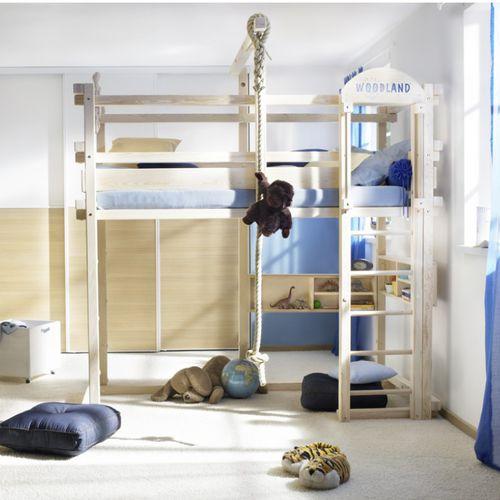 Loft bed / single / contemporary / child's unisex WINNIPEG WOODLAND - Meubles pour enfants