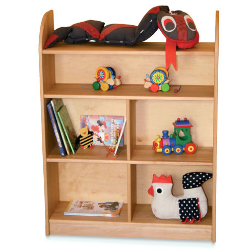 low bookcase / contemporary / wooden / child's