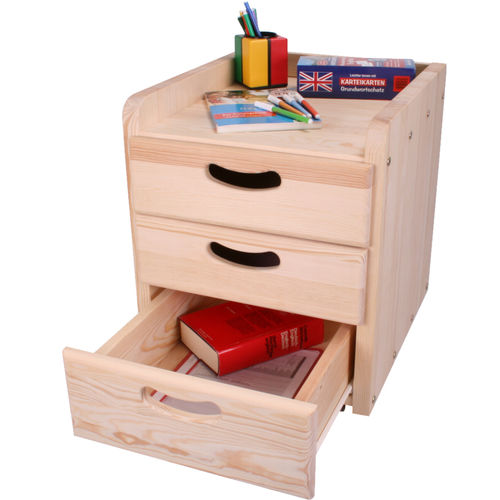 Wooden office unit / 3-drawer JEREMY WOODLAND - Meubles pour enfants