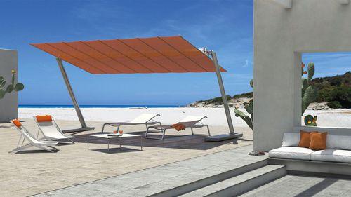 commercial patio umbrella / fabric / aluminum / orientable