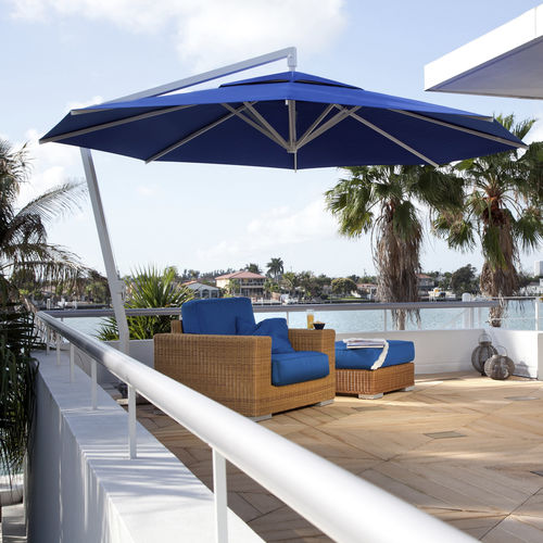 offset patio umbrella / commercial / for hotels / for bars