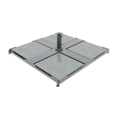 galvanized steel patio umbrella base / concrete