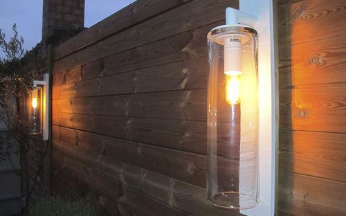 contemporary wall light / garden / glass / aluminum