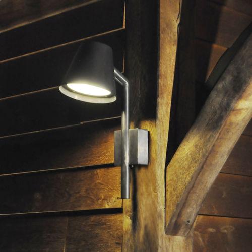 contemporary wall light / garden / brass / LED