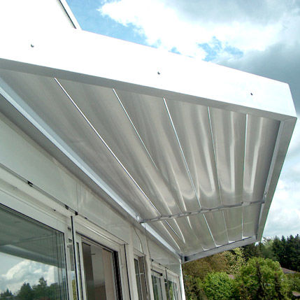aluminum solar shading / for facades / for roofs / window