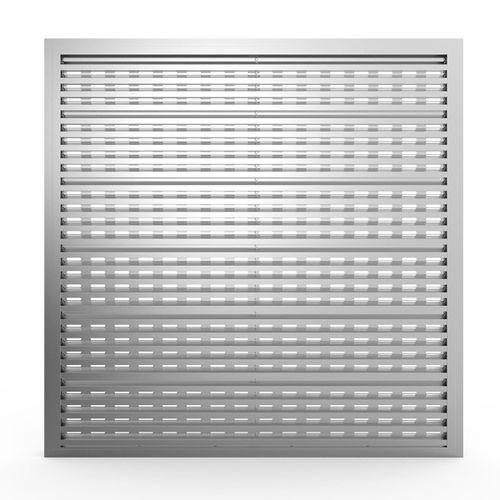 aluminum ventilation grill / rectangular / square / for facades