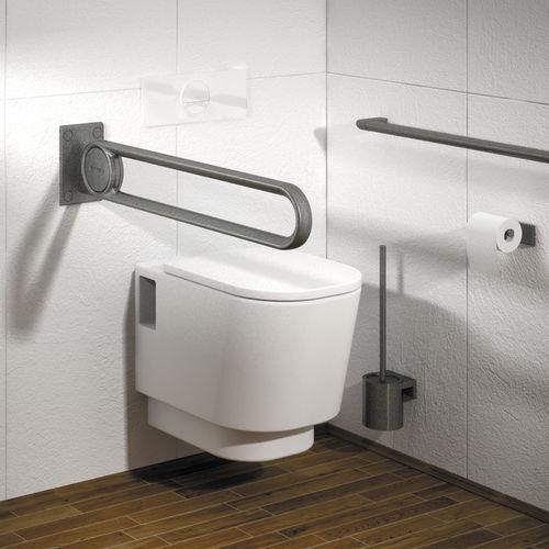 metal grab bar / U-shaped / wall-mounted / commercial
