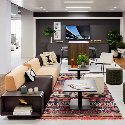 modular sofa / contemporary / fabric / commercial