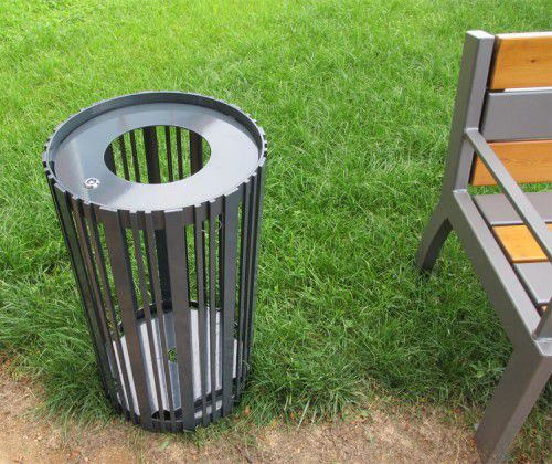 Public trash can / metal / contemporary BASIK GUYON