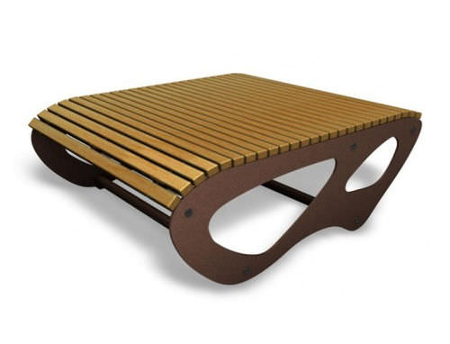 Contemporary table / wooden / rectangular / for public spaces ALL by Gherardo Pertile GUYON