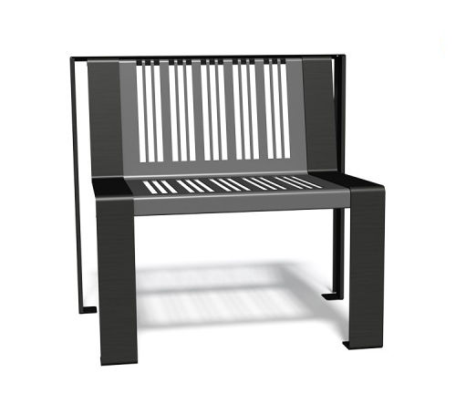 Metal urban armchair BASIK  GUYON