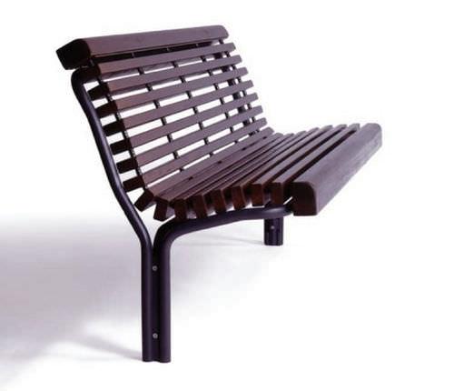 Public bench / traditional / wooden / metal CONTOUR : 325-22 GUYON