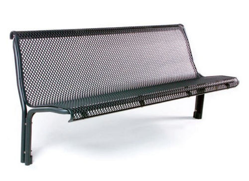 Public bench / traditional / metal / with backrest CONTOUR : 325M GUYON