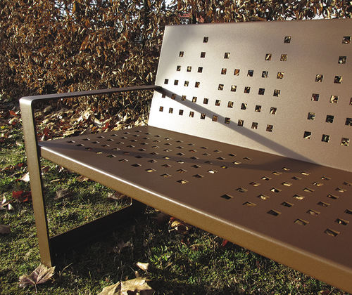 Public bench / contemporary / metal KUBIC GUYON
