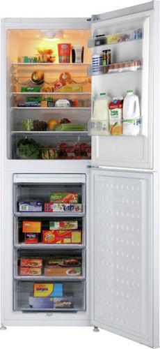 upright refrigerator-freezer / white / bottom freezer