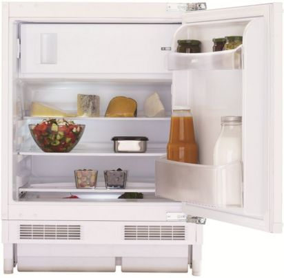 undercounter refrigerator-freezer / white / built-in / internal freezer compartment