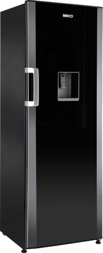 upright refrigerator / black / with water dispenser