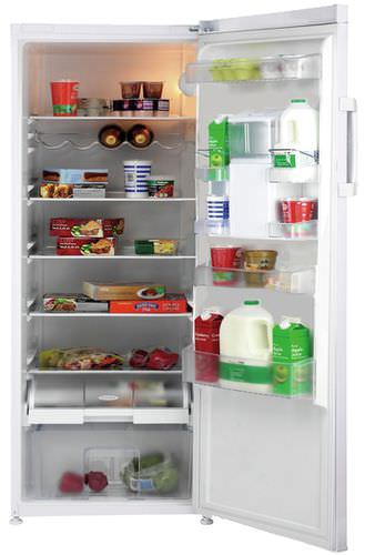 upright refrigerator / white / with water dispenser