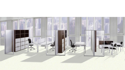 Floor-mounted office divider / Plexiglas® SITAG