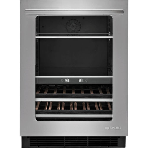 built-in wine cabinet / undercounter / stainless steel / electric