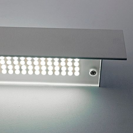 contemporary wall light / extruded aluminum / metal / LED