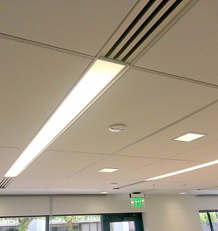 surface-mounted light fixture / recessed ceiling / fluorescent / linear