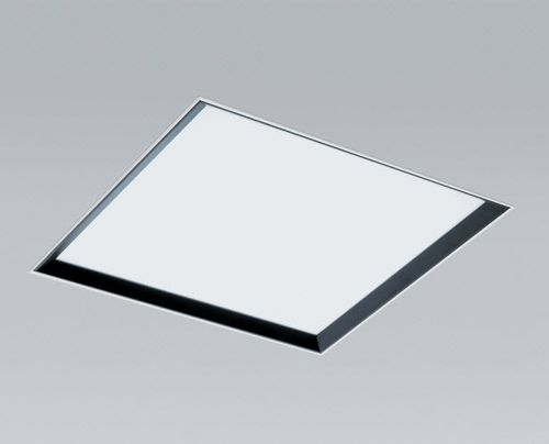 recessed ceiling light fixture / fluorescent / square / aluminum