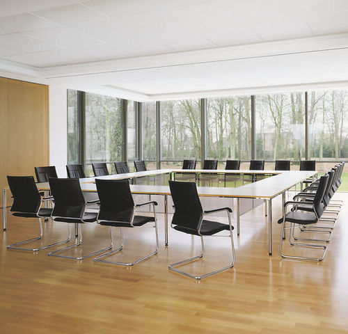 contemporary conference table / laminate / linoleum / rectangular